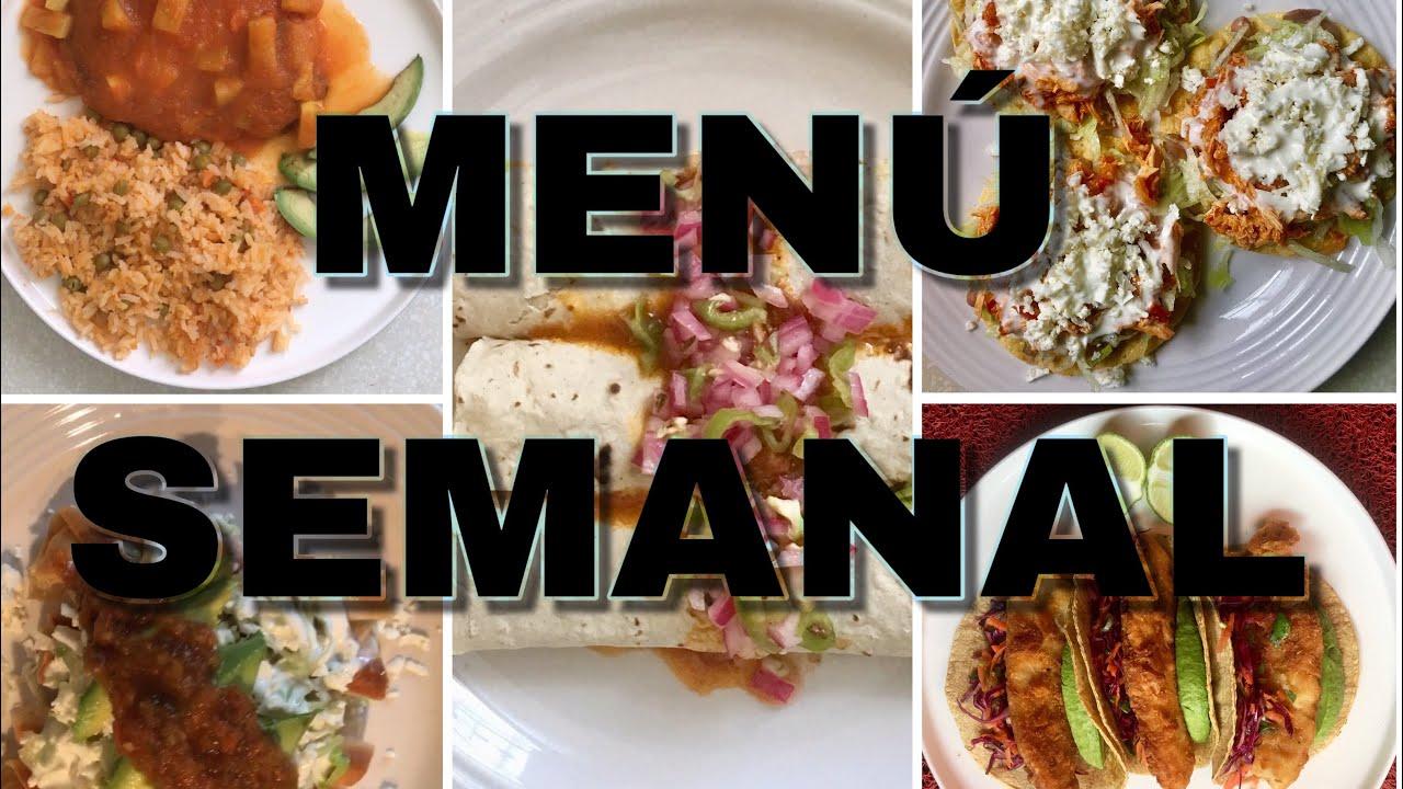 recetas de comida mexicana semanales
