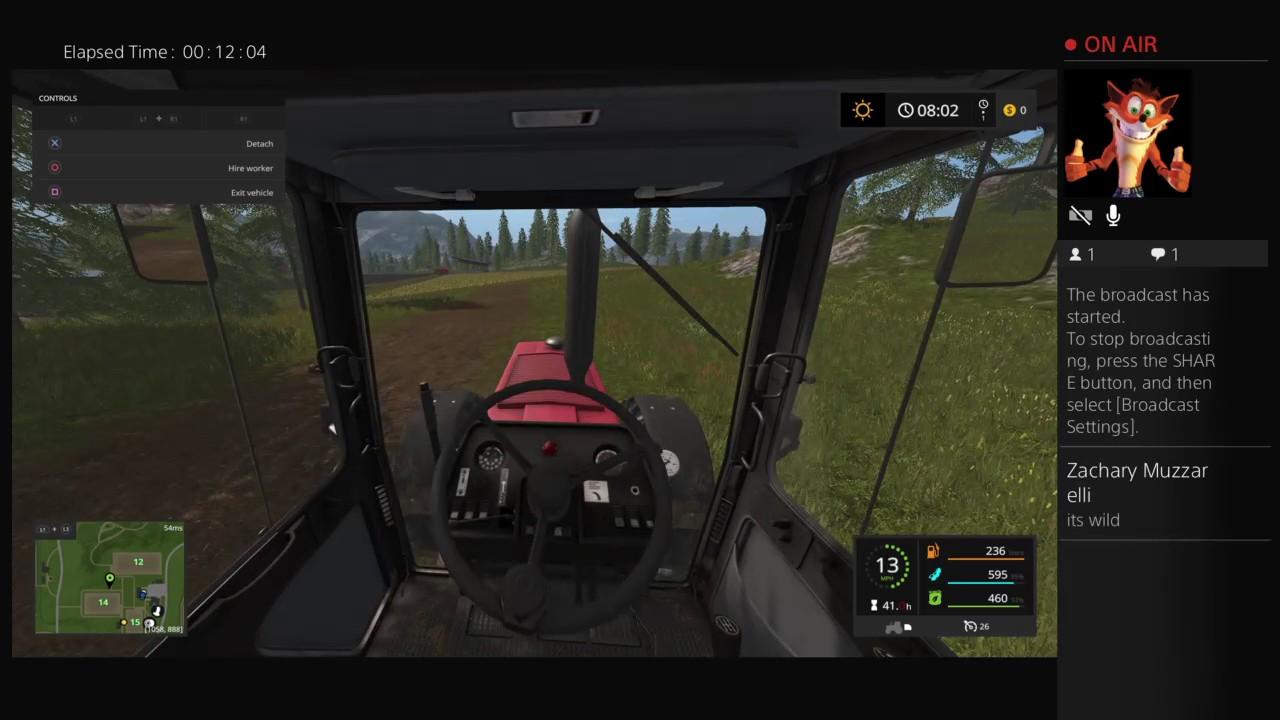 06b2a421d08 Farming sim 17 with a ps4 wheel - YouTube