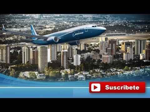 Aterrizaje en Ciudad de Guatemala HD