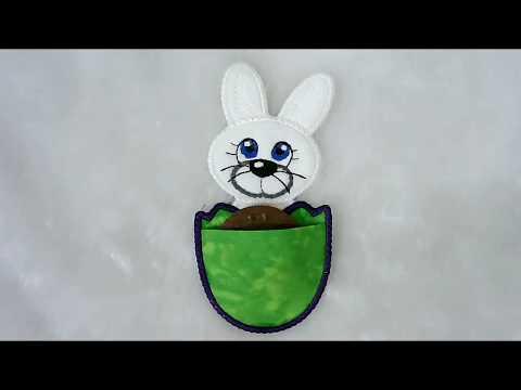 Easter Bunny Freebie With Pocket -  By Kreative Kiwi