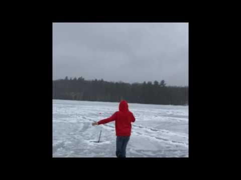 KAV ICE FISHING W MY GIRL IN APRIL IN NH
