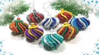 🎄 Елочные игрушки своими руками на Новый год 🎄 diy christmas ornaments  glitter foam