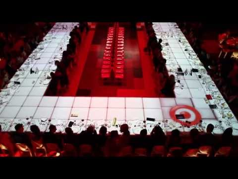 3D Projection Mapping on to Fashion Show Runway Dining Table