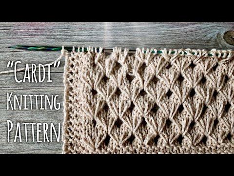 "Идеально для КАРДИГАНА: вяжем узор ""Cardi"" / Beautiful Knitting Pattern For Cardigan"