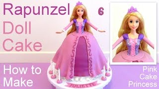 Tangled Rapunzel Cake How to Make a Disney Princess Rapunzel Doll Cake