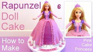 Tangled Rapunzel Cake How to Make a Disney Princess Rapunzel Doll Cake