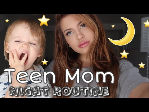 SINGLE TEEN MOM NIGHT ROUTINE *REALISTIC*