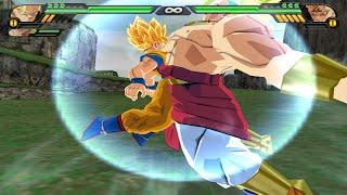 Goku SSJ and Broly Fusion | Brokku vs Majin Vegeta  DBZ Budokai Tenkaichi 3 (MOD)