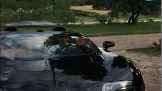 Cristiano Ronaldo ao volante do Bugatti Veyron