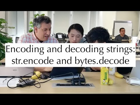Python standard library: Encoding and decoding strings
