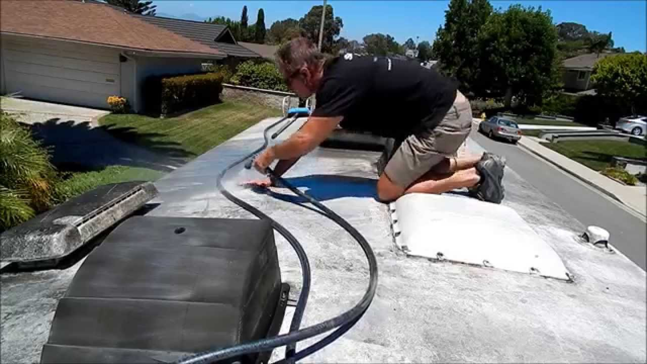 Auto Detailing Tips Rv Roof Cleaning Youtube