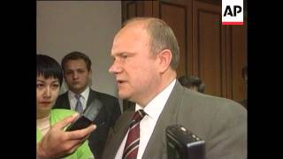 Russia - Zyuganov Reaction To Lebed Appointment