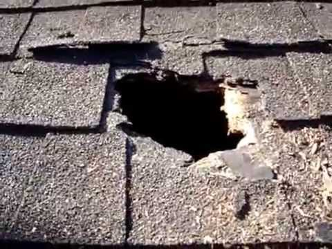 Diy Temporary Fix For Hole On The Roof Youtube