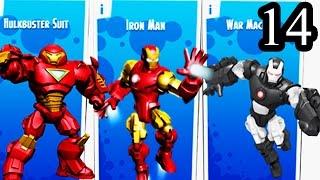 Repeat youtube video Mix+Smash Marvel Super Hero Mashers Superheroic   Iron Man, Black Iron Man, Huldbuster Suit Part 14