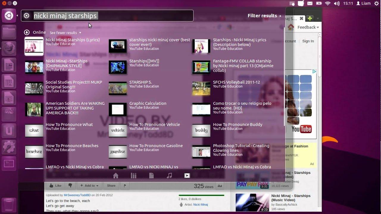 video youtube ubuntu 12.04