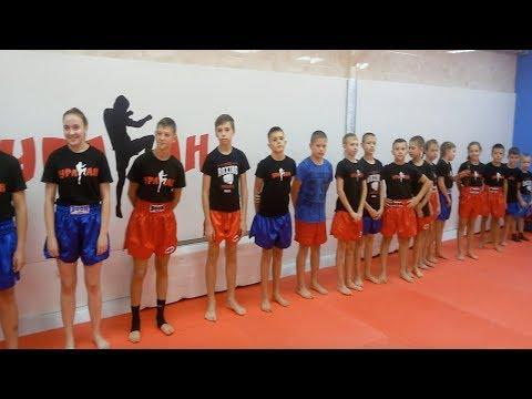 Тренировка в Бойцовском Клубе Ураган. Секция кикбоксинга в Орле.