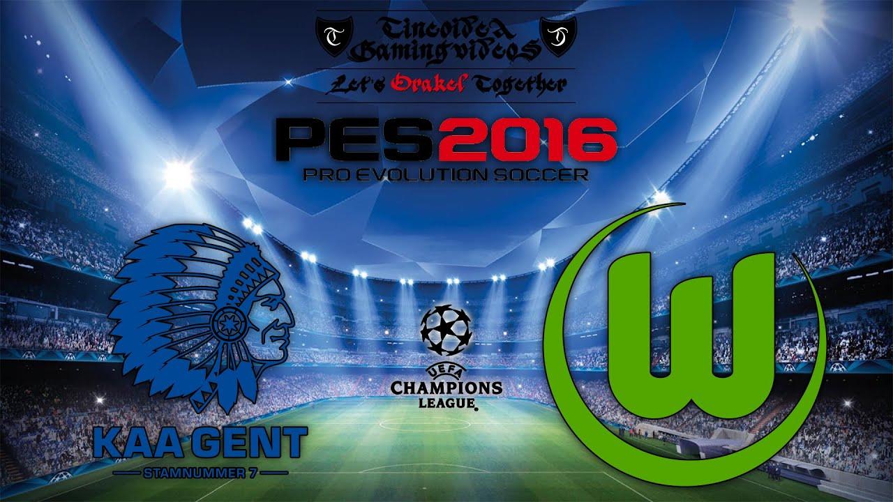 Kaa Gent Vfl Wolfsburg Champions League Achtelfinale Pes 2016 Ttv Hd Ger