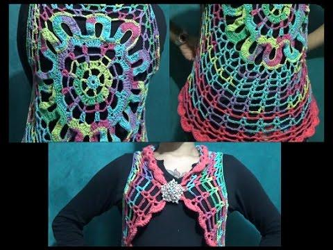 Chaleco Circular a Crochet