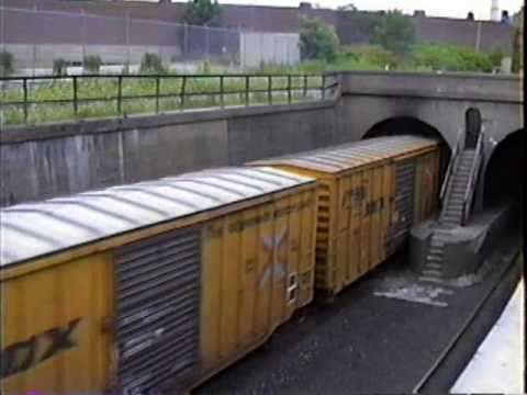 DETROIT RIVER TUNNEL.  July 24, 1991. Both Detroit & Windsor sides + other scenes.