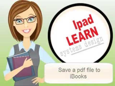 save pdf to ibooks on ipad