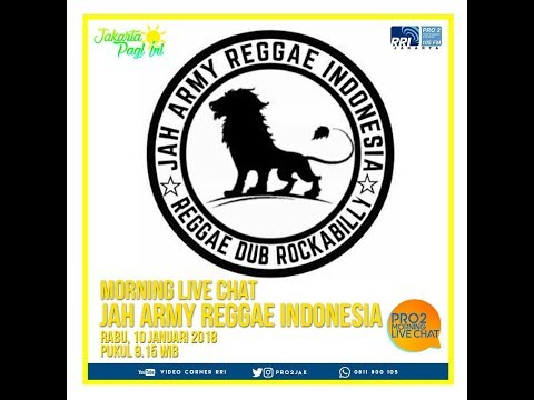Jah Army Reggae Indonesia - Morning Live Chat Pro 2 FM Jakarta (Video Corner RRI)