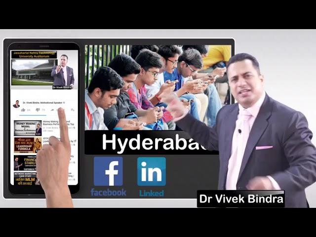 Dr Vivek Bindra in Hyderabad Live Seminar