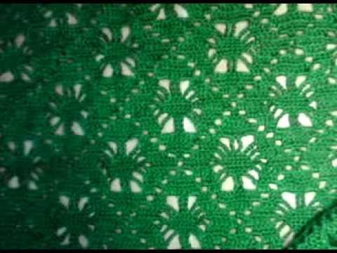 Узор для шали или бактуса Бабушкин квадратиз Кауни(pattern to crochet shawl) (Шаль #13)
