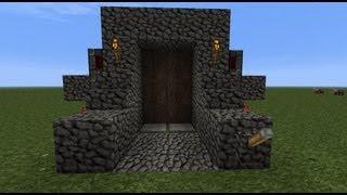 Minecraft Tutorial: Triple Piston Door With Lock