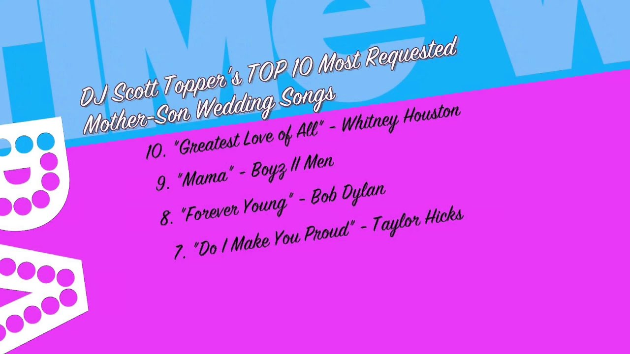Top 10 Mother Son Wedding Songs