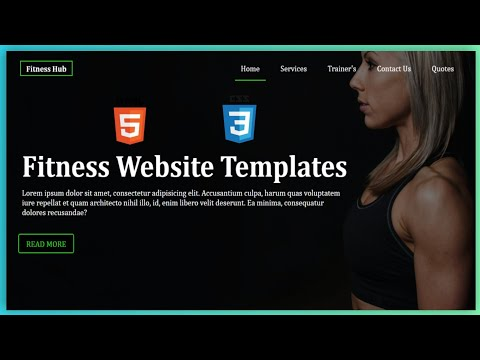 Gym And Fitness Website Template Design - Using Complete HTML And CSS - Absolute Beginners