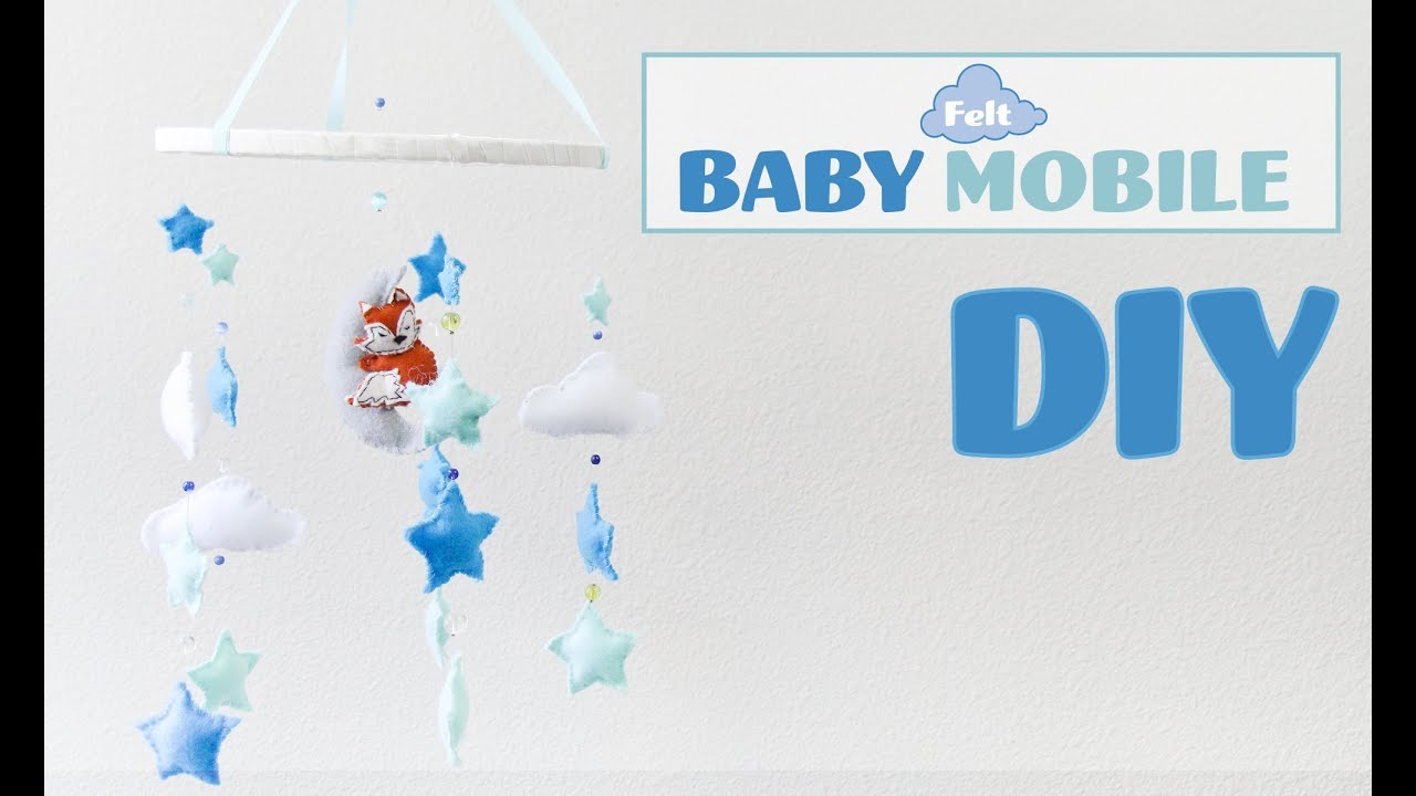 Diy felt baby mobile movil de bebes con fieltro youtube for Diy baby mobile felt