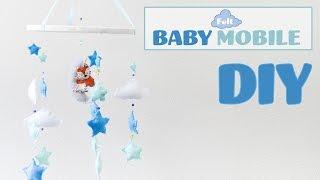 DIY Felt Baby Mobile / Movil de bebes con fieltro