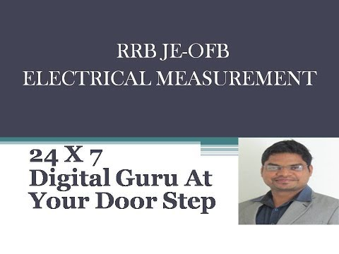 Electrical measurement part 1 loco pilot rrb je ordnanace exam preparation