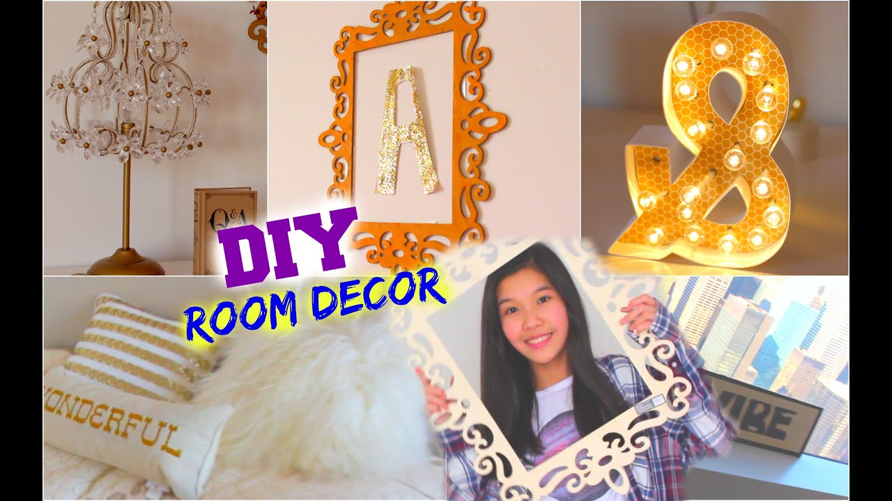 diy room decor for teens cheap easy ideas youtube - Diy Room Decor For Teens