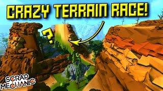 CRAZY TERRAIN WALL RIDE RACE!  - Scrap Mechanic Multiplayer Monday! Ep 71