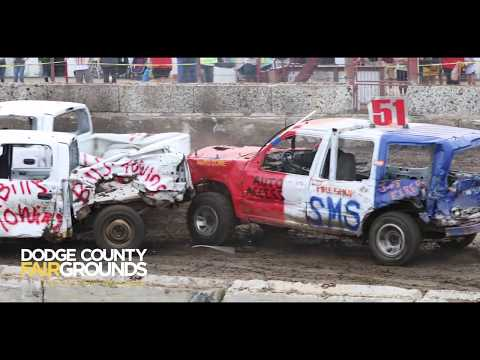 Demolition Derby at the 2019 Dodge County Fair