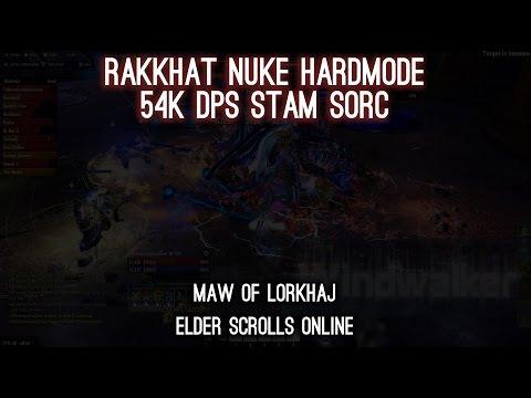 Rakkhat Hardmode Nuke - 54k DPS Stam Sorc - One Tamriel