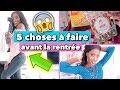 watch he video of 5 Choses à Faire Avant La Rentrée | Back To School 😱📚
