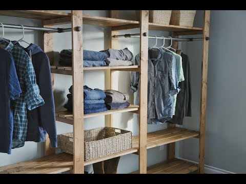 Build a Closet: How to Build Industrial Style Closet - Freestanding