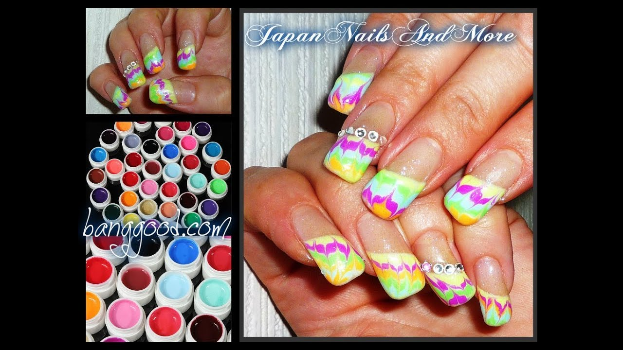 Color Gels Review And Gel Nail Design Banggood Youtube