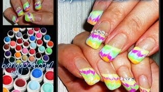 Color Gels Review and Gel Nail Design