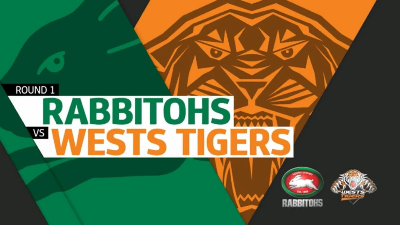 Nrl 2017 Round 1 Highlights Wests Tigers Vs South Sydney Rabbitohs Youtube
