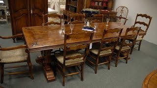 French Fleur De Lys Farmhouse Refectory Dining Table