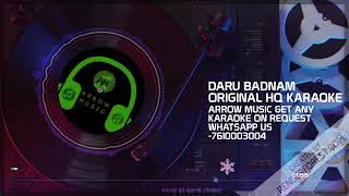 Daru Badnaam Original HQ Karaoke  Kamal Kahlon & Param Singh   Latest Punjabi Songs karaoke