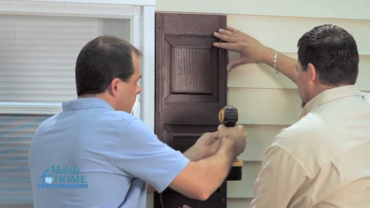 Diy How To Install Exterior Shutters With S Mobile Home Parts