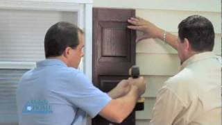 Diy How To Install Exterior Shutters With Screws | Mobile Home Parts Store