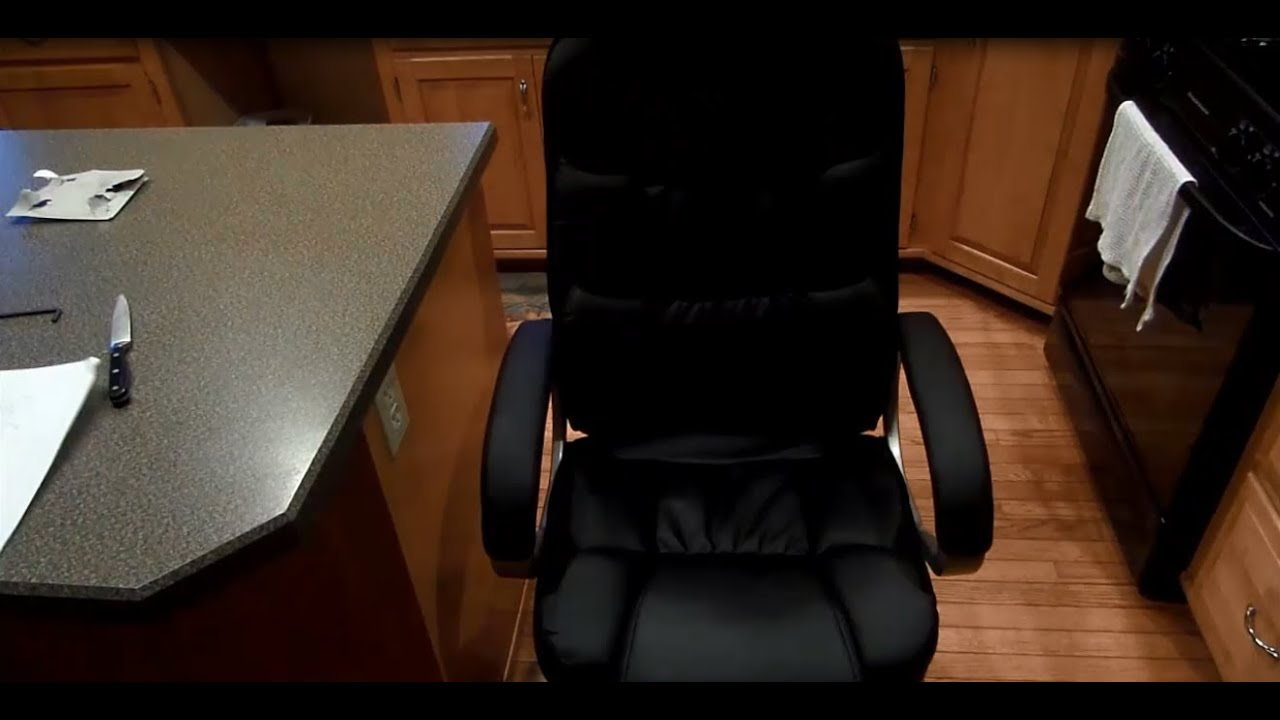 Executive Pu Leather Desk Computer Chair 010 Unboxing Setup