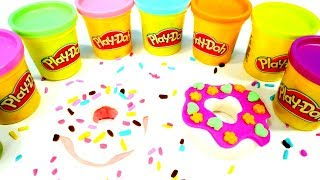 Вкусняшки Плей До. Лепим пончики из пластилина Play Doh.