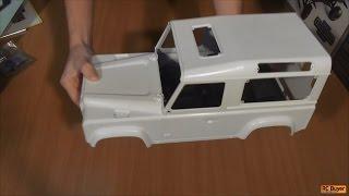 Очень копийная трофи модель - RC4WD Gelande II Kit Defender D90 rc car