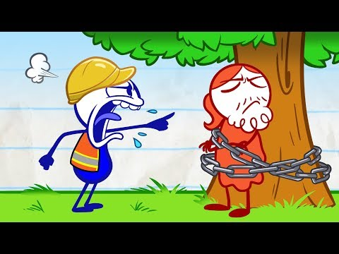 Pencilmate Meets a Hippie! -Pencilmation Cartoons for Kids